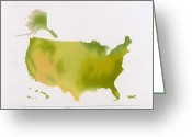 Diagrams Greeting Cards - A Map Of The National Park System Greeting Card by NG Maps