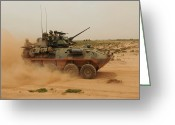 Armored Vehicles Greeting Cards - A Marine Corps Light Armored Vehicle Greeting Card by Stocktrek Images