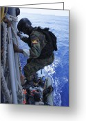 Uganda Greeting Cards - A Marine From The Uganda People's Greeting Card by Stocktrek Images