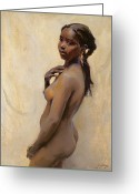 Erotica Painting Greeting Cards - A Marrakesh Girl Greeting Card by Philip Alexius de Laszlo