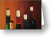 Wine Bottle Prints Greeting Cards - A Maryland Wine Party Greeting Card by Brien Cole