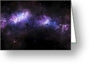 Starfield Greeting Cards - A Massive Nebula Covers A Huge Region Greeting Card by Justin Kelly