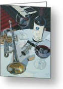 Wine Cellar Greeting Cards - A Measure of Opus Greeting Card by Christopher Mize