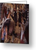 Ethnic And Tribal Peoples Greeting Cards - A Member Of The Blackfoot Tribe Greeting Card by Annie Griffiths