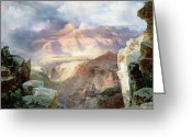 Thomas Moran Greeting Cards - A Miracle of Nature Greeting Card by Thomas Moran
