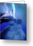 Special Delivery Greeting Cards - A Mk-8 Mod-0 Seal Delivery Vehicle Greeting Card by Michael Wood