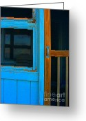 Screen Doors Greeting Cards - A Mom and Pop Stay on Topsail Island Greeting Card by Julie Dant