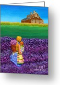 Country Sculpture Greeting Cards - A MOMENT - Crop Of Original - To See Complete Artwork Click View All Greeting Card by Anne Klar