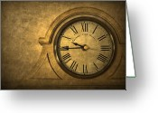 Clock Greeting Cards - A Moment in Time Greeting Card by Evelina Kremsdorf