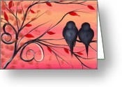 Birds Painting Greeting Cards - A morning with you Greeting Card by  Abril Andrade Griffith