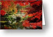 Japanese Maple Greeting Cards - A Most Beautiful Spot Greeting Card by Jon Holiday