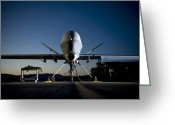 Air-to-air Greeting Cards - A Mq-9 Reaper Being Refueled Greeting Card by Stocktrek Images