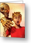 Kid Greeting Cards - A Mummies Touch Greeting Card by Bob Orsillo
