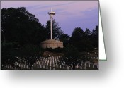 Graves And Tombs Greeting Cards - A Naval Monument And Graves Of Lost Greeting Card by Ira Block