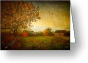 Connecticut Barns Greeting Cards - A New Dawn Greeting Card by Michael Petrizzo