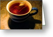 Teacup Digital Art Greeting Cards - A Nice Cup of Tea Greeting Card by Dale   Ford