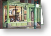 Maine Painting Greeting Cards - A Night at Evangeline Greeting Card by Dominic White