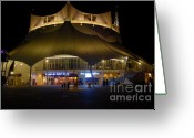 Downtown Disney Greeting Cards - A night at the circus Greeting Card by David Lee Thompson