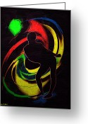 Disco Mixed Media Greeting Cards - A Night at the Disco Greeting Card by Tyler Robbins