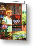 Retratos Greeting Cards - A Painters Bio Greeting Card by Estela Robles