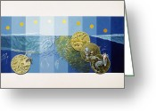 Animal Life Cycles Greeting Cards - A Painting Depicts The Tiny Life Greeting Card by Davis Meltzer