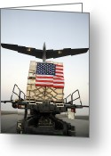 Humanitarian Aid Greeting Cards - A Pallet Containing Humanitarian Relief Greeting Card by Stocktrek Images