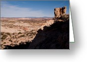 Grand Staircase - Escalante National Monument Greeting Cards - A Panoramic View Of The Canyons Greeting Card by Taylor S. Kennedy