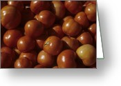 Farmers Markets Greeting Cards - A Pile Of Tomatoes Stand Waiting Greeting Card by Taylor S. Kennedy
