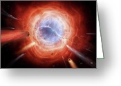 Catastrophe Greeting Cards - A Planetary Nebula Is Forming Greeting Card by Brian Christensen