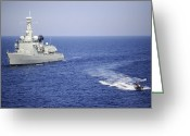 333 Greeting Cards - A Portuguese Navy Team In An Inflatable Greeting Card by Stocktrek Images