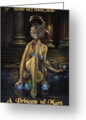 Carter Greeting Cards - A Princess of Mars Greeting Card by Patrick Anthony Pierson