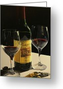 Wine Bottle Prints Greeting Cards - A Private Reserve Greeting Card by Brien Cole
