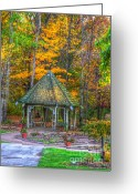 Autumn Art Greeting Cards - A Quiet Place-fall time Greeting Card by Robert Pearson
