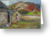 Rock Walls Greeting Cards - A Quiet Place Greeting Card by Willis Miller
