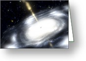 Accretion Discs Greeting Cards - A Rare Galaxy That Is Extremely Dusty Greeting Card by Stocktrek Images