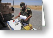 Nato Greeting Cards - A Rebel Collects His Food Ration Greeting Card by Andrew Chittock