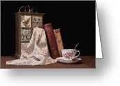 Teacup Greeting Cards - A Relaxing Evening Greeting Card by Tom Mc Nemar