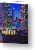 Chicago Artist Greeting Cards - A River Runs Through It 2 Greeting Card by J Loren Reedy