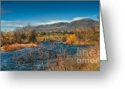 Butte Creek Greeting Cards - A River View Greeting Card by Robert Bales