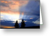 Awe Inspiring Greeting Cards - A Riveting Sky Greeting Card by Will Borden
