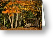 Folage Greeting Cards - A Romantic Autumn Spot Greeting Card by David Patterson