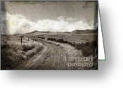 Process Greeting Cards - A rural path in Auvergne. France Greeting Card by Bernard Jaubert