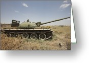 Russian Civil War Greeting Cards - A Russian T-62 Main Battle Tank Rests Greeting Card by Terry Moore