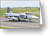 Nato Greeting Cards - A Saab Jas-39 Gripen Of The Czech Air Greeting Card by Giovanni Colla