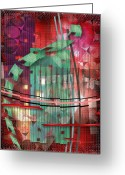 Abstract Greeting Cards - A Safe House Greeting Card by Mimulux patricia no