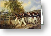 1823 Greeting Cards - A Scene from the soldiers life Greeting Card by Carl Schulz
