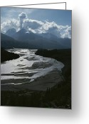 River Scenes Greeting Cards - A Scenic View Of The Matanuska River Greeting Card by George F. Herben