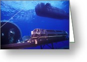 Special Delivery Greeting Cards - A Seal Delivery Vehicle Hovers Greeting Card by Michael Wood