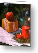 Ornaments Painting Greeting Cards - A Secial Gift Greeting Card by Tom Shropshire