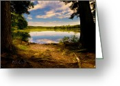 Solitude Greeting Cards - A Secret Place Greeting Card by Bob Orsillo